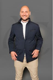 Стильная мужская куртка синего цвета