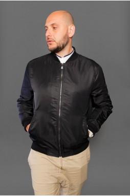 Мужская куртка - бомбер чёрного цвета