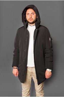 Мужская куртка - парка чёрного цвета