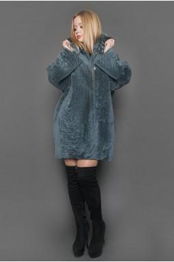 Двухстороннее меховое пальто «изумруд»