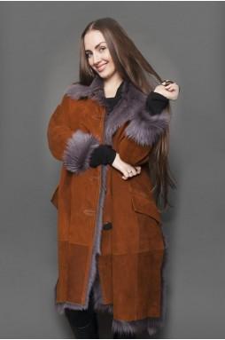 Фирменное пальто maxi в цвете «whisky»