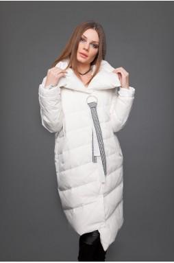 Куртка на пуху белого цвета