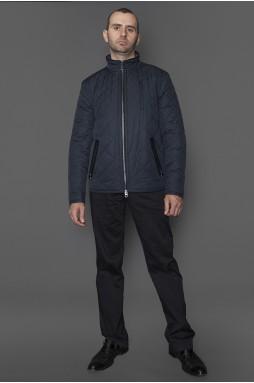 Куртка мужская демисезонная, синего цвета. Застежка-надежная змейка.