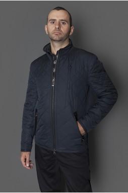 Куртка мужская демисезонная синего цвета, стеганная, на синтепоне. Застежка-змейка.