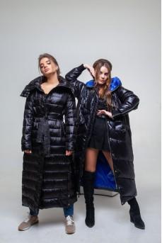 Эффектное двустороннее пальто с капюшоном