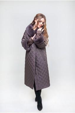 Пальто на верблюжьей шерсти бронзового цвета