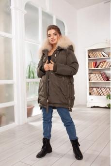 Эксклюзивная куртка цвет хаки