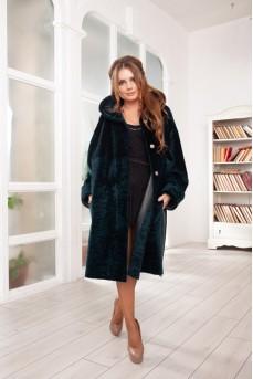 Двустороннее пальто цвет изумруд