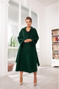 Кашемировое пальто цвет изумруд