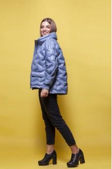 Стильная куртка голубого цвета