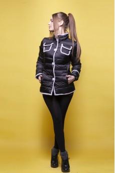 Ультрамодная куртка чёрного цвета