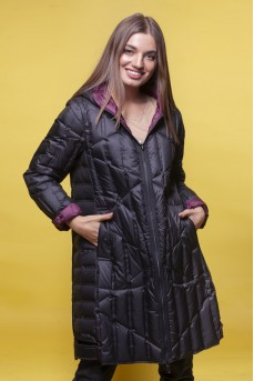 Двусторонняя куртка цвет марсал