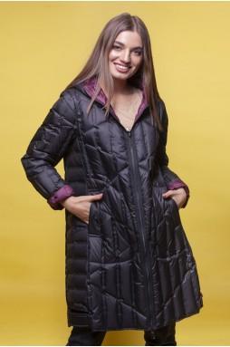 Двусторонняя Черная куртка с капюшоном