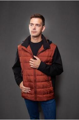 Стильная куртка цвета кирпич