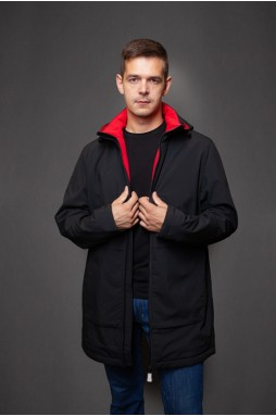 Современная куртка в чёрном цвете