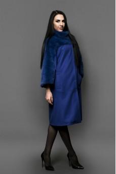 """Кашемировое пальто цвета """"BLUE"""""""
