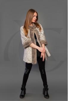Куртка из меха норки и рекса