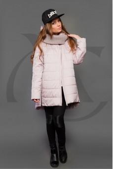 Современная куртка розового цвета