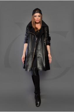 Кожаная Куртка в черном цвете
