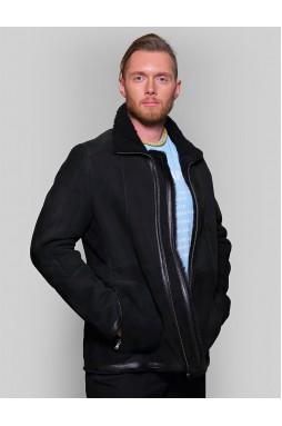 Мужская куртка- дубленка из  замши