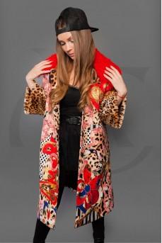 """Тканевое пальто - принт """"Леопард"""""""