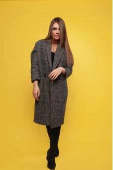 Шерстяное пальто серого цвета