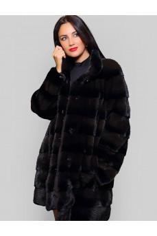 Женская норковая шуба, черная