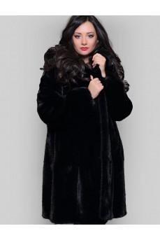 Норковая шуба черного цвета