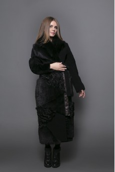 Удлинённое двустороннее пальто maxi