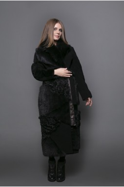 Пальто maxi чёрного цвета