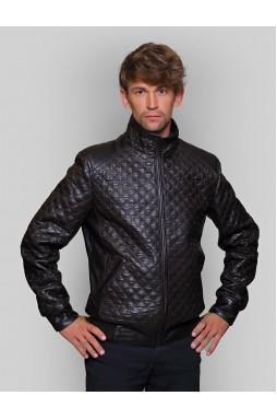 Эффектная мужская кожаная куртка