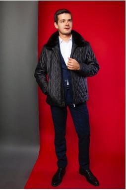 Стильная мужская куртка тёмно-синего цвета