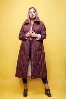Тканевое пальто цвета капучино