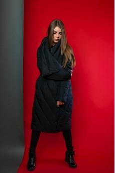 Пальто - пуховик чёрного цвета
