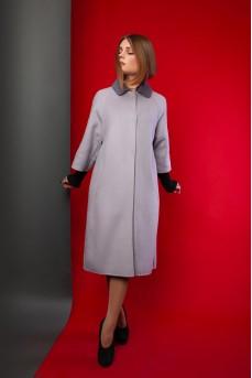 Эффектное кашемировое пальто серого цвета